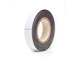 Magnet-Lagerschilder - weiß, Rollenware - Höhe 30 mm, Rollenlänge 10 m