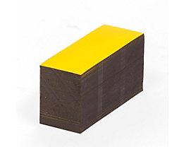 Magnet-Lagerschilder - gelb - HxB 20 x 80 mm, VE 100 Stk