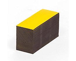 Magnet-Lagerschilder - gelb - HxB 30 x 80 mm, VE 100 Stk