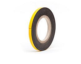 Magnet-Lagerschilder - gelb, Rollenware - Höhe 20 mm, Rollenlänge 10 m