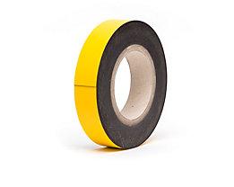 Magnet-Lagerschilder - gelb, Rollenware - Höhe 25 mm, Rollenlänge 10 m