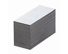 Magnet-Lagerschilder - weiß - HxB 10 x 80 mm, VE 100 Stk