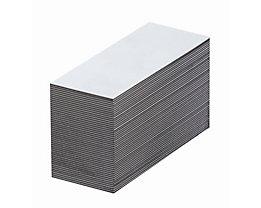 Magnet-Lagerschilder - weiß - HxB 15 x 80 mm, VE 100 Stk
