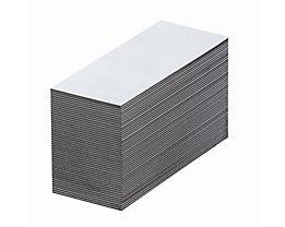 Magnet-Lagerschilder - weiß - HxB 25 x 80 mm, VE 100 Stk