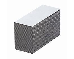 Magnet-Lagerschilder - weiß - HxB 40 x 80 mm, VE 100 Stk