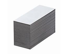 Magnet-Lagerschilder - weiß - HxB 50 x 80 mm, VE 100 Stk