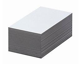 Magnet-Lagerschilder - weiß - HxB 50 x 100 mm, VE 100 Stk