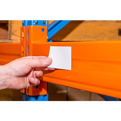 Magnet-Lagerschilder - weiß - HxB 50 x 200 mm, VE 100 Stk