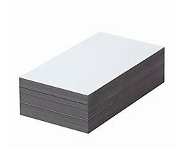 Magnet-Lagerschilder - weiß - HxB 80 x 200 mm, VE 100 Stk