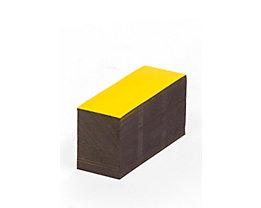 Magnet-Lagerschilder - gelb - HxB 15 x 80 mm, VE 100 Stk
