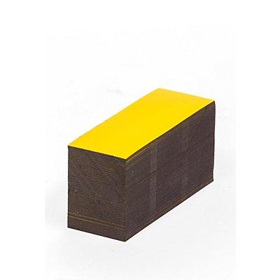 Magnet-Lagerschilder - gelb