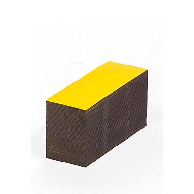 Magnet-Lagerschilder - gelb - HxB 50 x 100 mm, VE 100 Stk