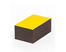 Magnet-Lagerschilder - gelb - HxB 40 x 100 mm, VE 100 Stk