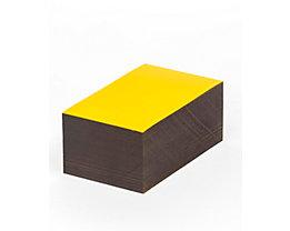 Magnet-Lagerschilder - gelb - HxB 70 x 100 mm, VE 100 Stk