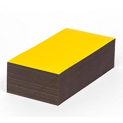 Magnet-Lagerschilder - gelb - HxB 30 x 100 mm, VE 100 Stk
