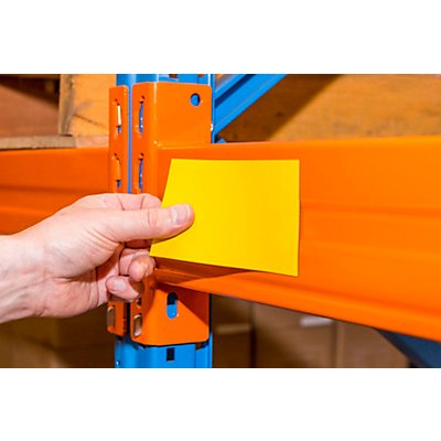 Magnet-Lagerschilder - gelb - HxB 80 x 100 mm, VE 100 Stk