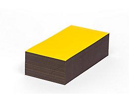 Magnet-Lagerschilder - gelb - HxB 50 x 200 mm, VE 100 Stk