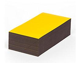 Magnet-Lagerschilder - gelb - HxB 80 x 200 mm, VE 100 Stk