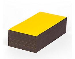 Magnet-Lagerschilder - gelb - HxB 100 x 200 mm, VE 100 Stk