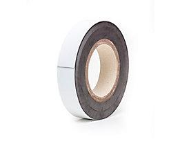 Magnet-Lagerschilder - weiß, Rollenware - Höhe 40 mm, Rollenlänge 10 m
