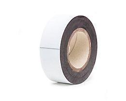 Magnet-Lagerschilder - weiß, Rollenware - Höhe 50 mm, Rollenlänge 10 m