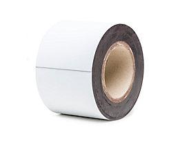Magnet-Lagerschilder - weiß, Rollenware - Höhe 100 mm, Rollenlänge 10 m