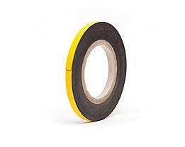Magnet-Lagerschilder - gelb, Rollenware - Höhe 10 mm, Rollenlänge 10 m