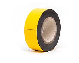 Magnet-Lagerschilder - gelb, Rollenware - Höhe 50 mm, Rollenlänge 10 m