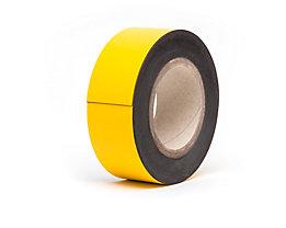Magnet-Lagerschilder - gelb, Rollenware - Höhe 60 mm, Rollenlänge 10 m