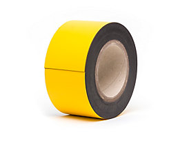 Magnet-Lagerschilder - gelb, Rollenware - Höhe 70 mm, Rollenlänge 10 m
