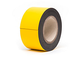 Magnet-Lagerschilder - gelb, Rollenware - Höhe 80 mm, Rollenlänge 10 m
