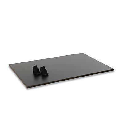 Etagenboden - MDF-Platte schwarz - Tragfähigkeit 50 kg