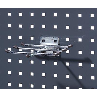 Sechsfachhalter - mit Schutzkappe, BxT 170 x 170 mm