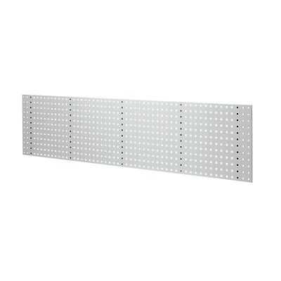 EUROKRAFT Stahlblechplatte mit Quadratlochung - Länge 2019 mm