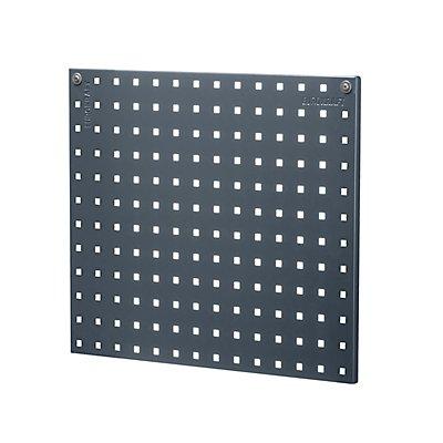EUROKRAFT Stahlblechplatte mit Quadratlochung - Länge 533 mm