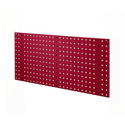 EUROKRAFT Stahlblechplatte mit Quadratlochung - Länge 1029 mm