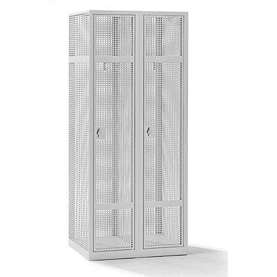 QUIPO Lochblechspind - Abteil 400 mm, 2 Fächer, für Vorhängeschloss
