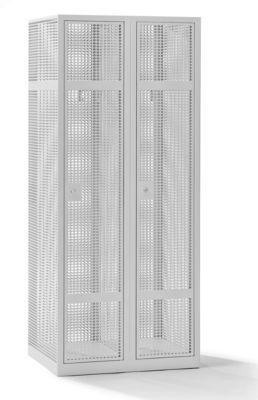 QUIPO Lochblechspind - Abteil 400 mm, 2 Fächer, Zylinderschloss