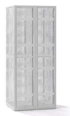 QUIPO Lochblechspind - Abteil 400 mm, 4 Fächer, Zylinderschloss