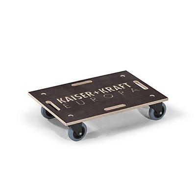 Laflör Transportroller ROLLBOY, Siebdruckplatte, Gummibereifung, ohne Beschriftung