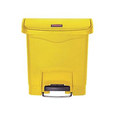 Rubbermaid Tretabfallsammler, 15 l - HxBxT 399 x 230 x 377 mm, gelb