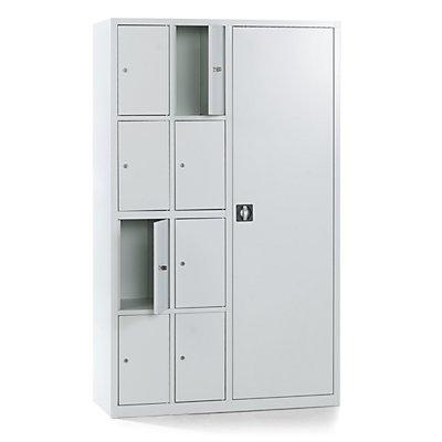 QUIPO Werkstatt-Schließfachschrank - Garderoben-Kombination