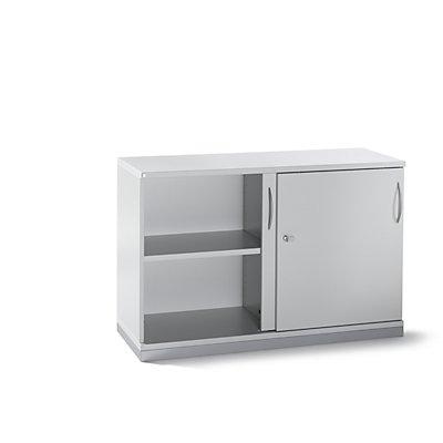 fm büromöbel LENA Schiebetürenschrank - 2 Ordnerhöhen, HxBxT 781 x 1200 x 442 mm