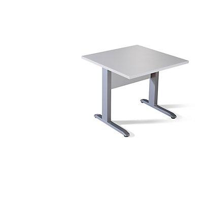 Wellemöbel BASIC-II Schreibtisch mit C-Fuß-Gestell - BxT 800 x 800 mm