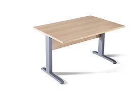 BASIC-II Schreibtisch mit C-Fuß-Gestell - BxT 1200 x 800 mm
