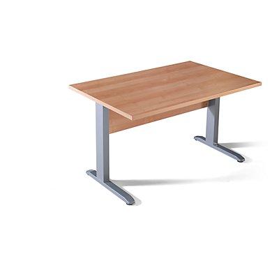 Wellemöbel BASIC-II Schreibtisch mit C-Fuß-Gestell - BxT 1200 x 800 mm