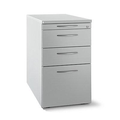 fm büromöbel HANNA Standcontainer - 1 Utensilienschub, 2 Materialschübe, 1 Hängeregistratur