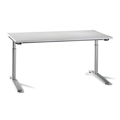 fm büromöbel HANNA C-Fuß Schreibtisch - höhenverstellbar, Breite 1600 mm