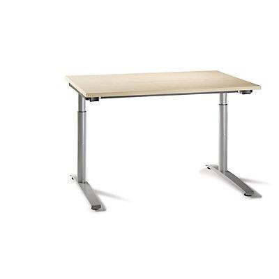 fm büromöbel HANNA höhenverstellbarer Bürotisch - C-Fuß-Gestell, Breite 1200 mm