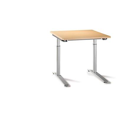 fm büromöbel HANNA höhenverstellbarer Schreibtisch mit C-Fußgestell - Breite 800 mm
